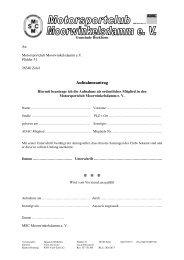 Page 1 Gemeinde Bockhorn Vorsitzender: Heinrich Wilhelms ...