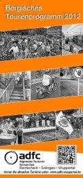 Bergisches Tourenprogramm 2012 - beim ADFC