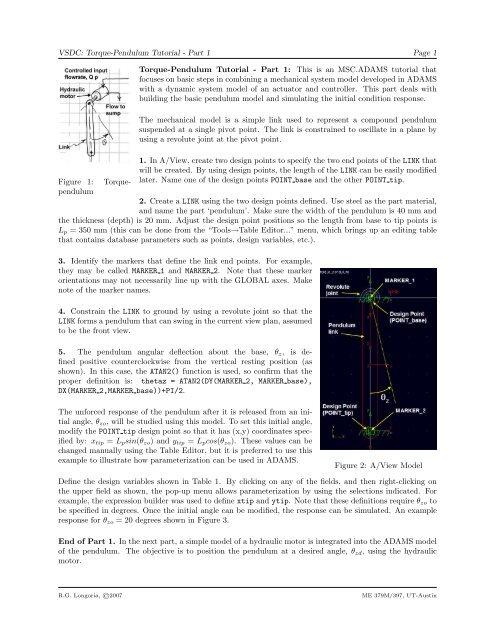 VSDC: Torque-Pendulum Tutorial - Part 1 Page 1     - MSC