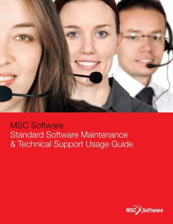 Technical Support Usage Guide - MSC Software