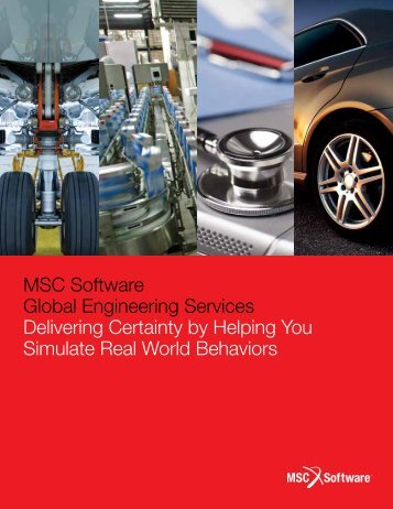 MSC Software Global Engineering Services Brochure