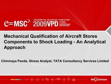 Mechanical Qualification of Aircraft Stores ... - MSC Software