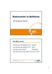 Radverkehr in Bellheim
