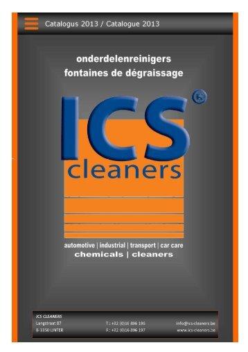 Catalogue Fontaines de dégraissage 2013-V1 - ics cleaners
