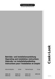 Download: Bedienungsanleitung Stand - Küppersbusch