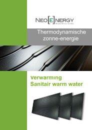 Thermodynamische zonne-energie Verwarming Sanitair ... - EG Power
