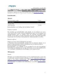 Koolstofdisulfide Algemeen Overzicht indeling stoffen CAS ... - RIVM