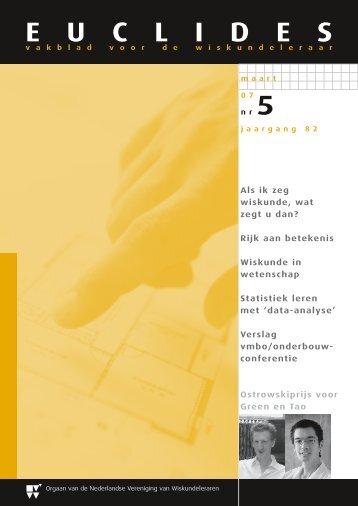 Euclides - Nederlandse Vereniging van Wiskundeleraren