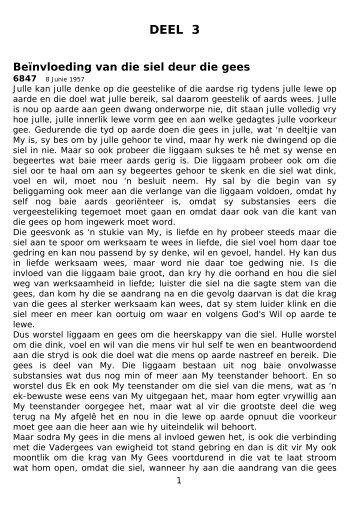 DEEL 3 - Nuweopenbaring::: Welkom by Die Nuwe Openbaring