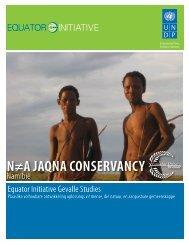 N≠A JAQNA CONSERVANCY - Equator Initiative