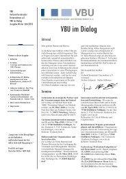 VBU im Dialog - ms pro:con Consulting