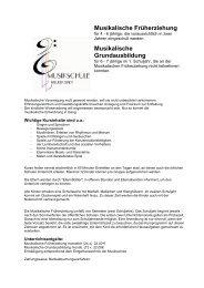 Musikalische Früherziehung - Musikschule Weil der Stadt