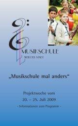 Festschrift Musikschule komplet - Musikschule Weil der Stadt
