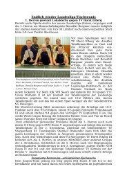 Endlich wieder Landesliga-Tischtennis - MTG Horst