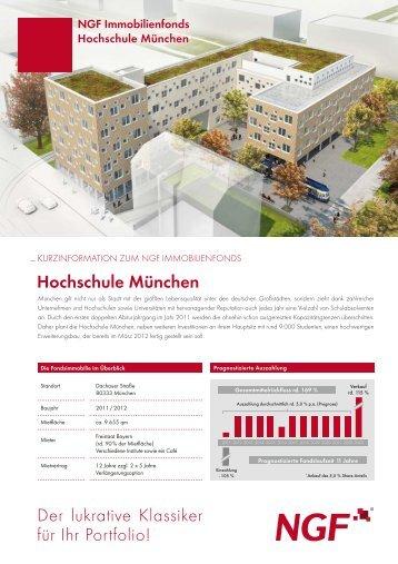 Hochschule München Der lukrative Klassiker für Ihr Portfolio!