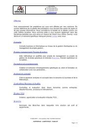 Projets direction Formation et enseignement ... - miro solutions