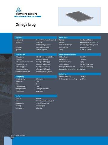 Omega brug - Romein beton