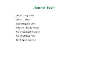 """""""Warndt-Tour"""" - ADFC Saar eV"""