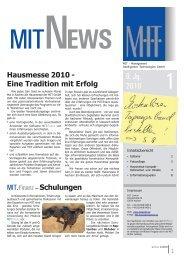 Ausgabe 21, MITNews Jg.9 Nr.1 - MIT - Management Intelligenter ...