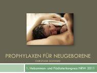 PROPHYLAXEN FÜR NEUGEBORENE - Hpk-nrw.de