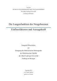 Die Lungenfunktion des Neugeborenen - FreiDok - Albert-Ludwigs ...