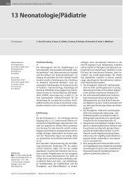 13 Neonatologie/Pädiatrie - DGEM