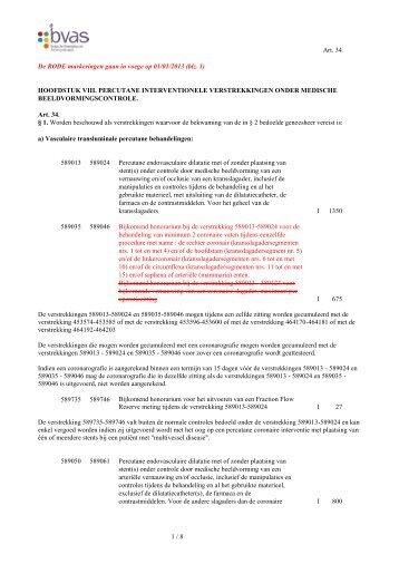 Percutane interventionele verstrekkingen - vlaams artsensyndicaat