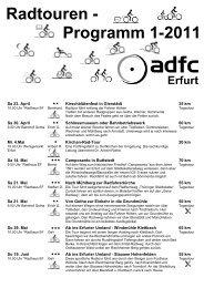Radtouren - Programm 1-2011
