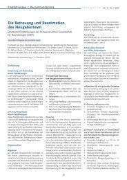 Die Betreuung und Reanimation des Neugeborenen (auf Deutsch