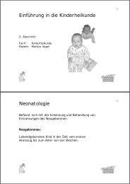 Einführung in die Kinderheilkunde Neonatologie
