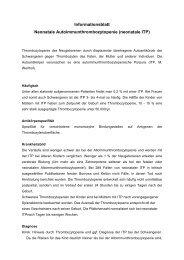 neonatale ITP - UKSH Universitätsklinikum Schleswig-Holstein