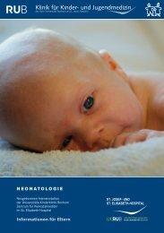 Broschüre Neonatologie - Klinik für Kinder- und Jugendmedizin