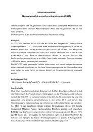 Neonatale Alloimmunthrombozytopenie (NAIT) - UKSH ...