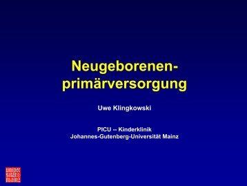 Neugeborenen- primärversorgung - EPLS-Mainz