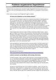 Probleme bei neugeborenen Ziegenlämmern - Ziegen-Treff.de