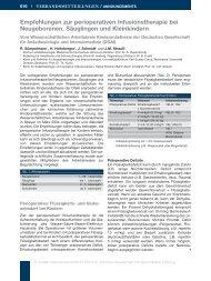 Empfehlungen zur perioperativen Infusionstherapie bei ...