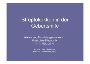 Streptokokken in der Geburtshilfe - molekularediagnostik.ch