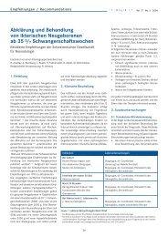 Abklärung und Behandlung von ikterischen Neugeborenen ab 35 0 ...