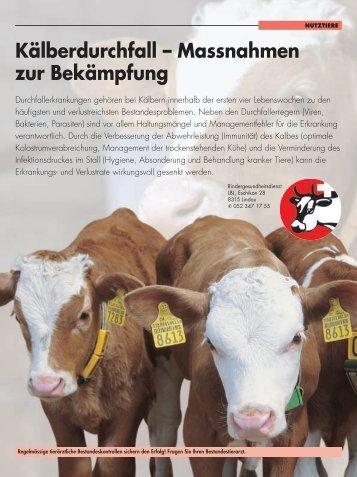 Kälberdurchfall – Massnahmen zur Bekämpfung - RGD ...