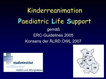 Kinderreanimation Paediatric Life Support