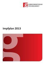 Impfplan 2013 - Bundesministerium für Gesundheit