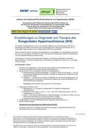 027/045 S1 Kongenitaler Hyperinsulinismus (KHI) 01-2010 ... - AWMF