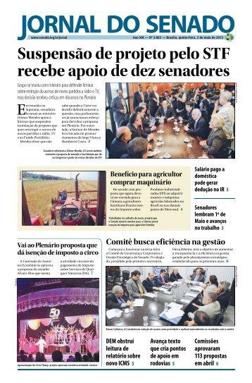Suspensão de projeto pelo STF recebe apoio de dez senadores