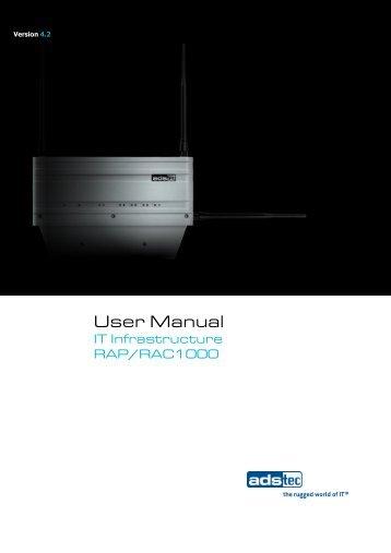 RAP/RAC1000 User Manual EN V4.2 - ads-tec