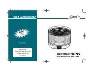 INSTRUCTIONS Food Dehydrator - Deni
