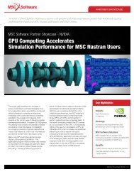 GPU Computing Accelerates Simulation ... - MSC Software