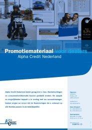 Promotiemateriaal voor dealers - Alpha Credit Nederland