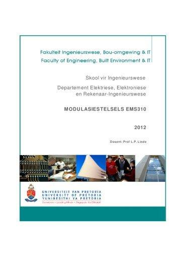 Skool vir Ingenieurswese MODULASIESTELSELS EMS310 2012 ...