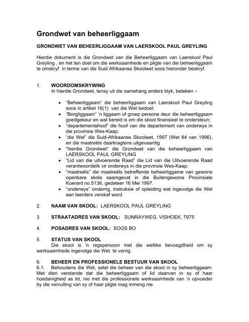 Grondwet Van Suid Afrika Pdf