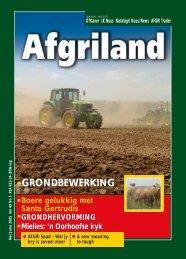 GRONDBEWERKING - AFGRI